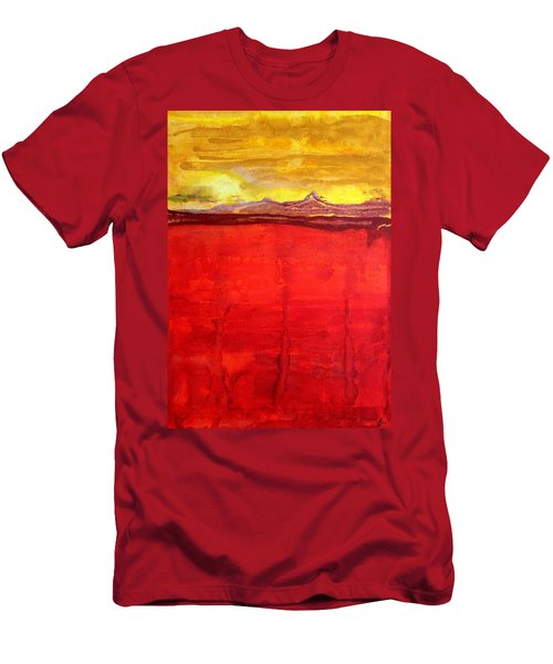 Mojave Dawn Original Painting Men's T-Shirt (Athletic Fit)