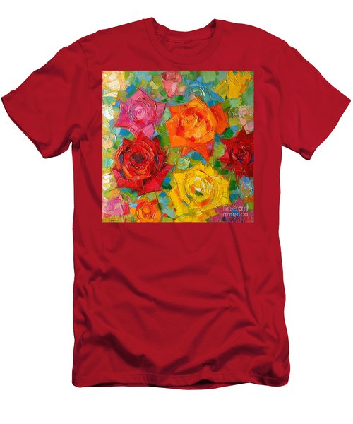 Mon Amour La Rose Men's T-Shirt (Athletic Fit)