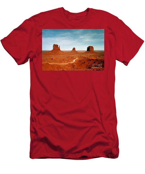 Men's T-Shirt (Slim Fit) featuring the photograph Monument Valley by The Art of Alice Terrill