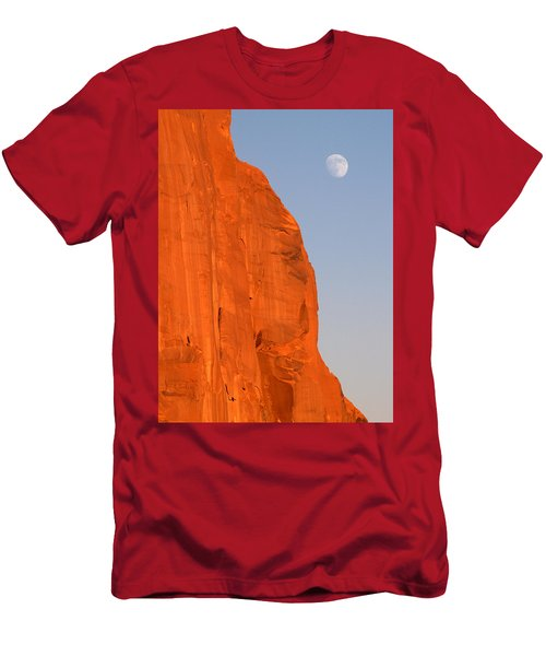 Moon At Monument Valley Men's T-Shirt (Athletic Fit)