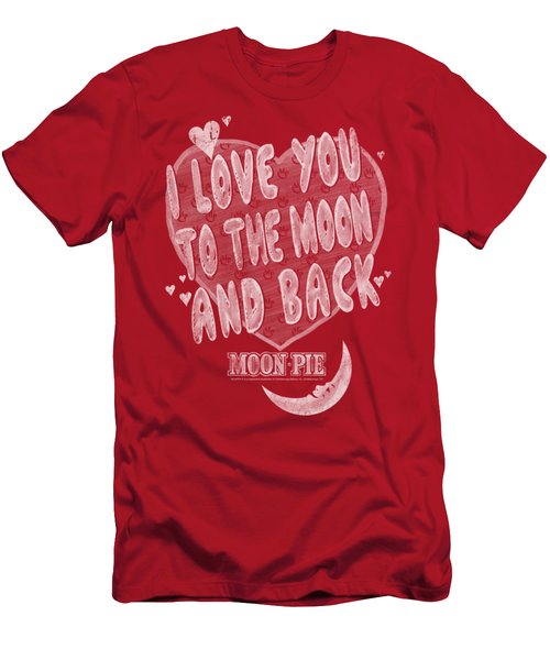 Moon Pie - I Love You Men's T-Shirt (Athletic Fit)