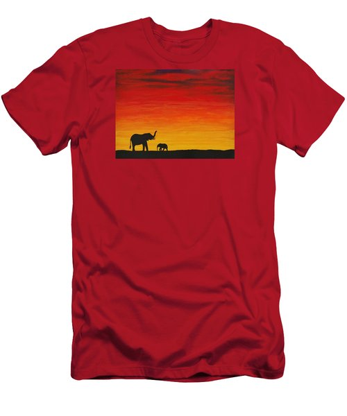 Men's T-Shirt (Slim Fit) featuring the painting Mother Africa 1 by Michael Cross