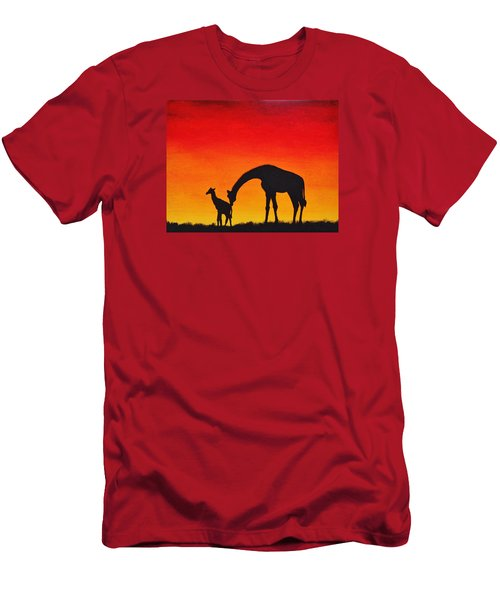 Men's T-Shirt (Slim Fit) featuring the painting Mother Africa 2 by Michael Cross