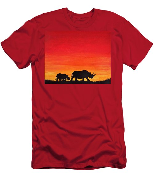 Men's T-Shirt (Slim Fit) featuring the painting Mother Africa 5 by Michael Cross