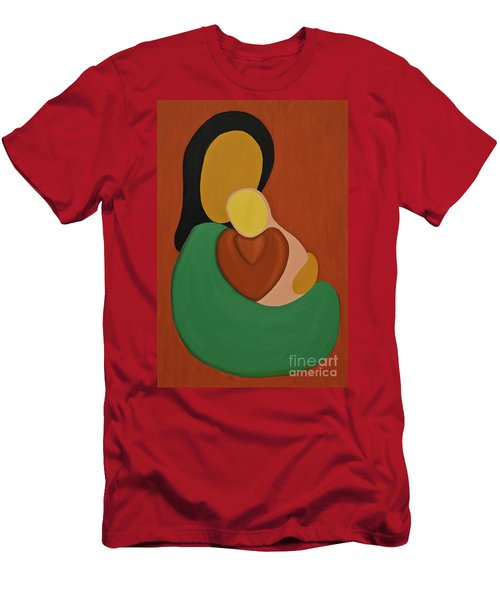 Mother And Daughter Men's T-Shirt (Athletic Fit)