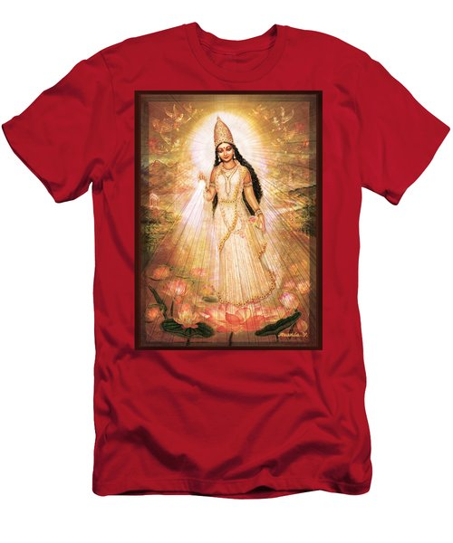 Mother Goddess With Angels Men's T-Shirt (Athletic Fit)