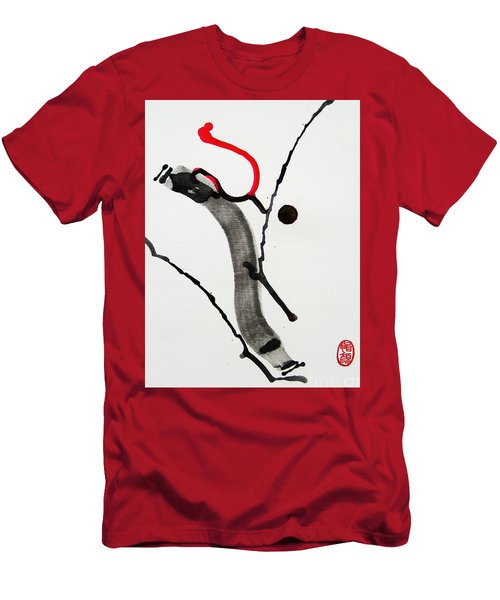 Men's T-Shirt (Slim Fit) featuring the painting Muga No Genri Ni by Roberto Prusso