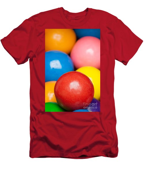 Men's T-Shirt (Athletic Fit) featuring the photograph Multi-colored Gumballs by Bryan Mullennix