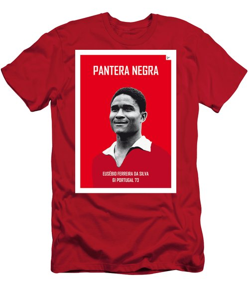 My Eusebio Soccer Legend Poster Men's T-Shirt (Slim Fit) by Chungkong Art