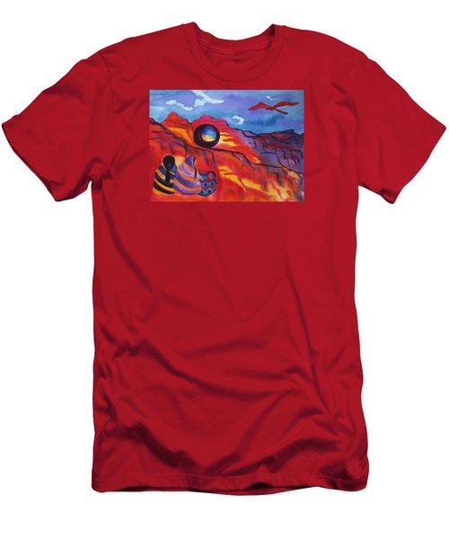 Native Women At Window Rock Men's T-Shirt (Slim Fit) by Ellen Levinson