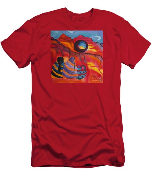 Native Women At Window Rock Square Men's T-Shirt (Athletic Fit)