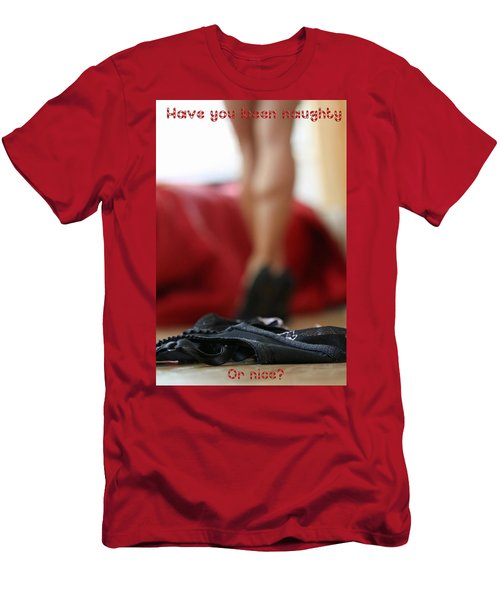 Naughty Or Nice Men's T-Shirt (Slim Fit) by Shoal Hollingsworth