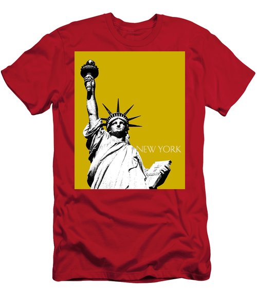 New York Skyline Statue Of Liberty - Gold Men's T-Shirt (Athletic Fit)