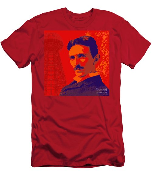 Nikola Tesla #1 Men's T-Shirt (Slim Fit) by Jean luc Comperat