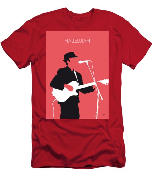 No042 My Leonard Cohen Minimal Music Men's T-Shirt (Athletic Fit)