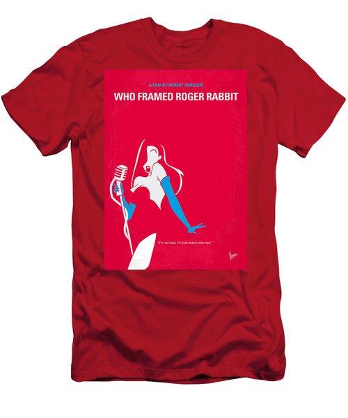 No271 My Roger Rabbit Minimal Movie Poster Men's T-Shirt (Athletic Fit)