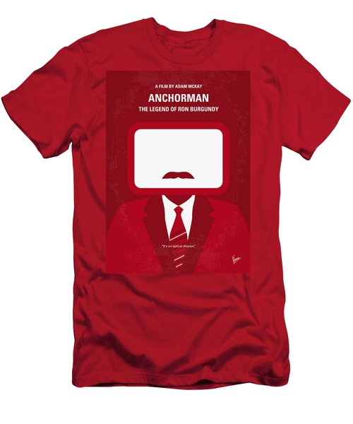 No278 My Anchorman Ron Burgundy Minimal Movie Poster Men's T-Shirt (Athletic Fit)
