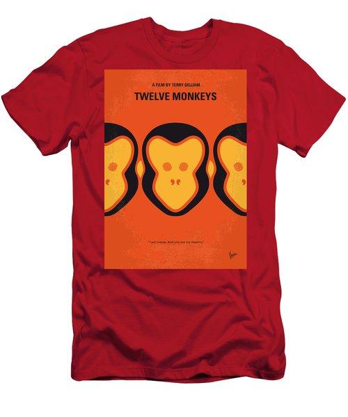 No355 My 12 Monkeys Minimal Movie Poster Men's T-Shirt (Athletic Fit)