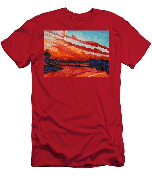 November Sunset Men's T-Shirt (Slim Fit) by Phil Chadwick