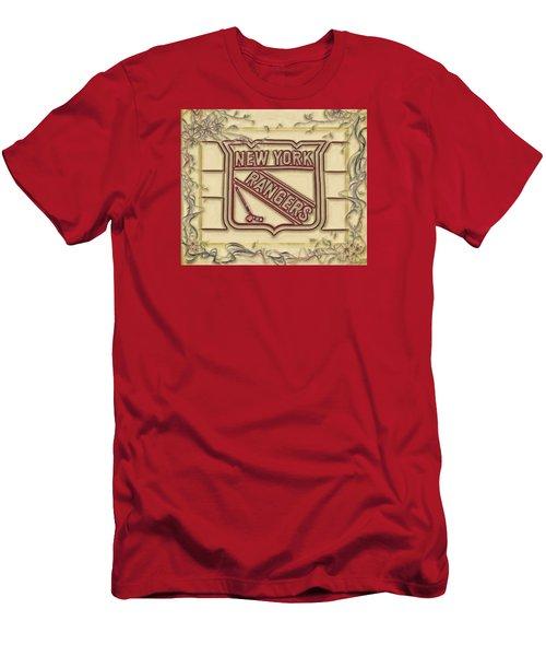 Men's T-Shirt (Slim Fit) featuring the digital art Ny Rangers-1 by Nina Bradica