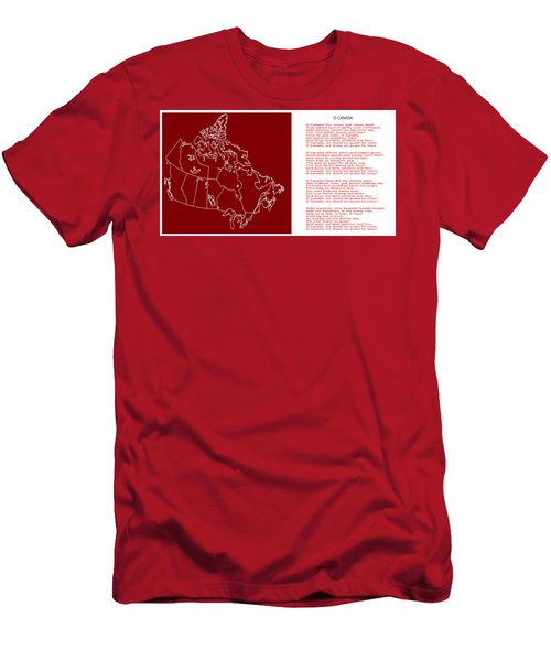 O Canada Lyrics And Map Men's T-Shirt (Athletic Fit)