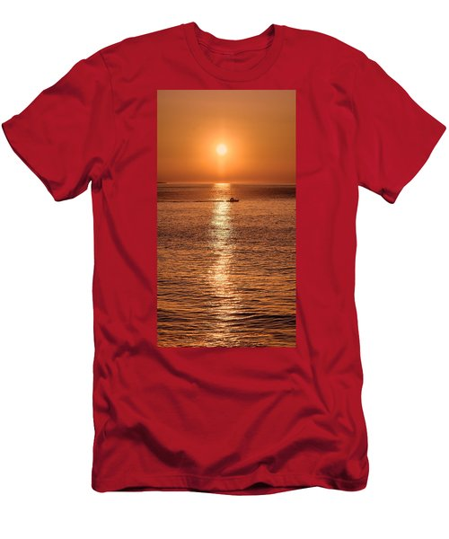 Ocean Sunrise At Montauk Point Men's T-Shirt (Athletic Fit)