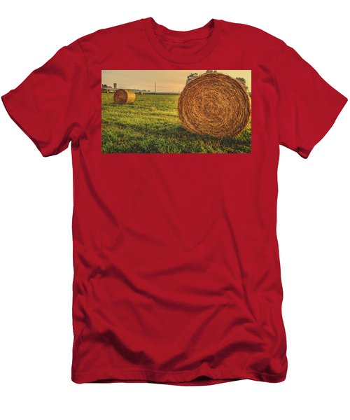 Men's T-Shirt (Athletic Fit) featuring the photograph On The Field  by Garvin Hunter