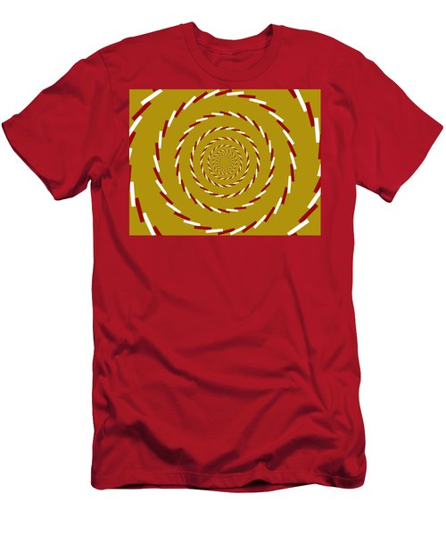 Optical Illusion Whirlpool Men's T-Shirt (Athletic Fit)