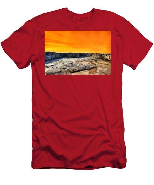 Orange Blaze Men's T-Shirt (Athletic Fit)