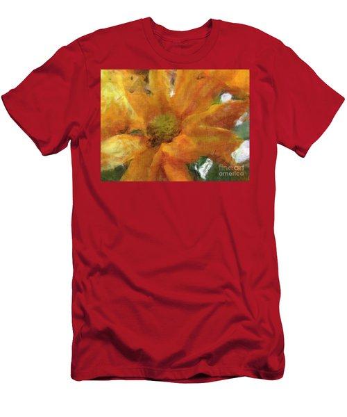 Orange Chrysanthemem Photoart Men's T-Shirt (Athletic Fit)