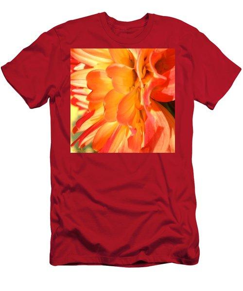 Orange Dahlia Men's T-Shirt (Athletic Fit)