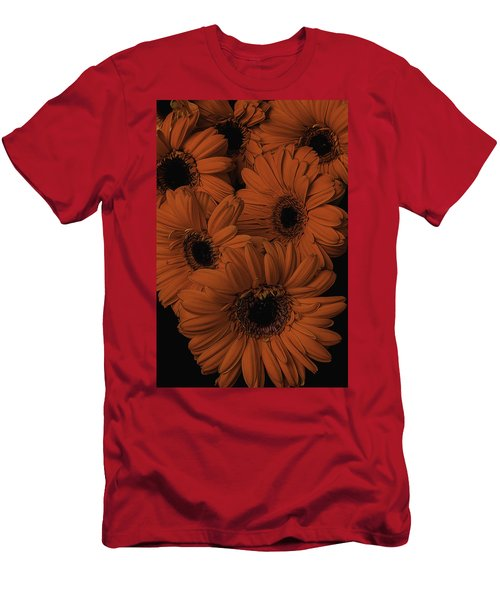 Orange Daisy Bouquet Men's T-Shirt (Athletic Fit)