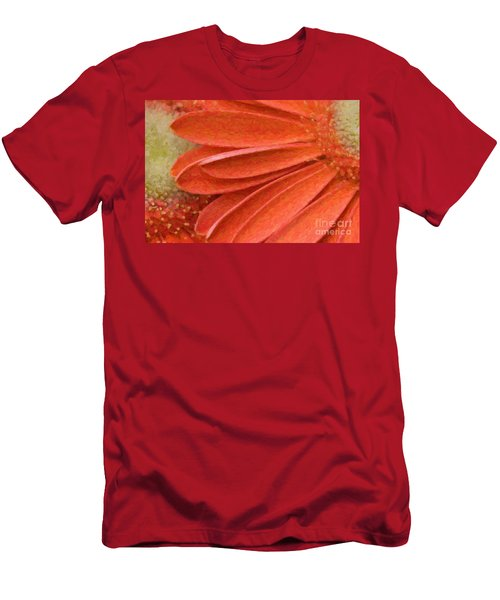 Orange Gerber Daisy Painting Men's T-Shirt (Athletic Fit)