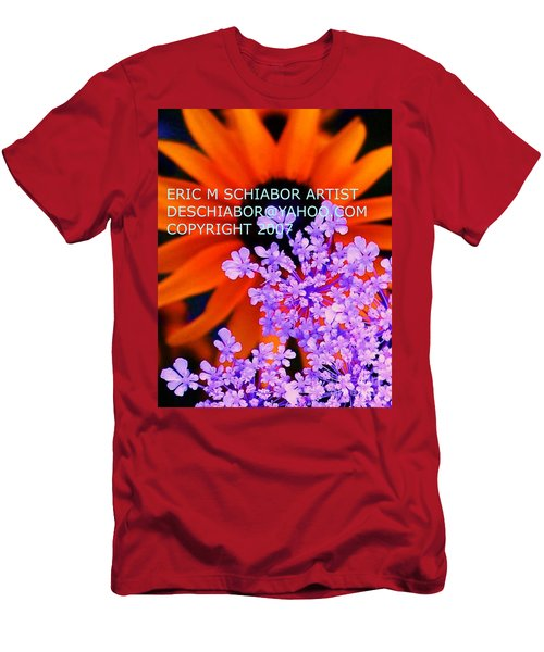 Orange Lavender Flower Men's T-Shirt (Athletic Fit)