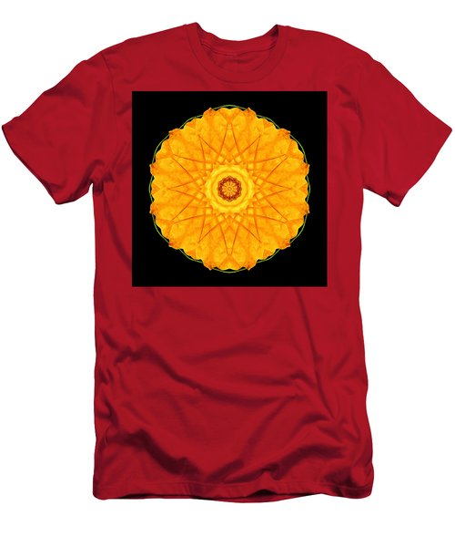 Orange Nasturtium Flower Mandala Men's T-Shirt (Athletic Fit)