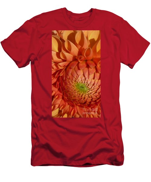 Orange Sherbet Delight Dahlia Men's T-Shirt (Slim Fit) by Susan Garren