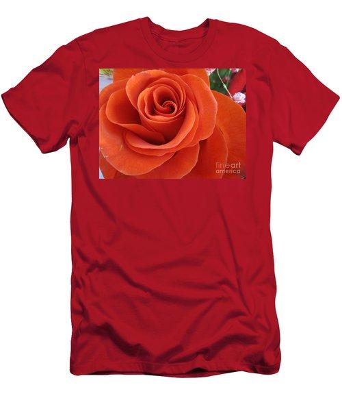 Orange Twist Rose 2 Men's T-Shirt (Athletic Fit)