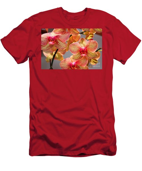 Men's T-Shirt (Slim Fit) featuring the photograph Orchid by Judy Palkimas