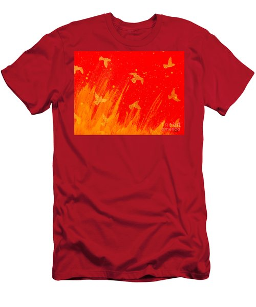 Out Of The Fire Men's T-Shirt (Slim Fit) by Stefanie Forck