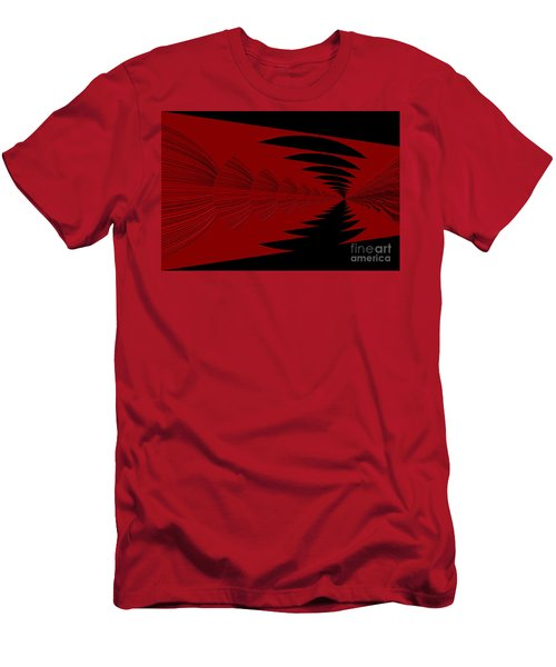 Red And Black Design Men's T-Shirt (Athletic Fit)