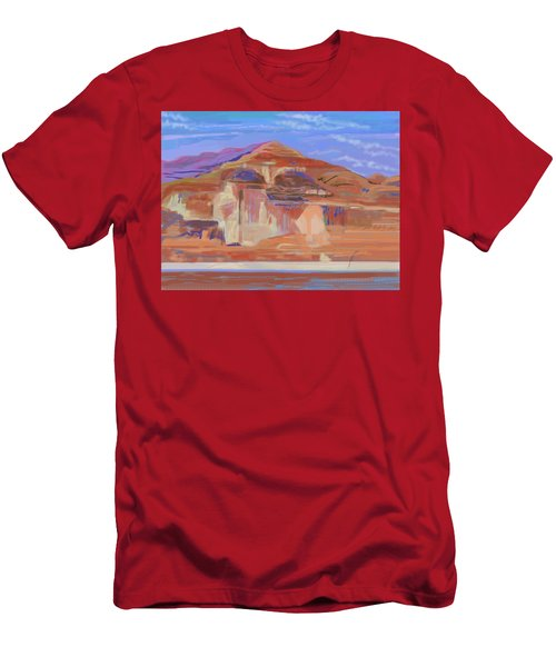 Painted Cliffs, Lake Powell Computer Art Men's T-Shirt (Athletic Fit)