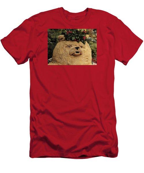 Papa Bear Gets Christmas Spirit Men's T-Shirt (Slim Fit) by Nadalyn Larsen