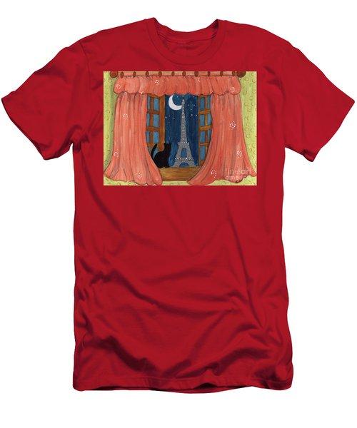 Paris Moonlight Men's T-Shirt (Athletic Fit)