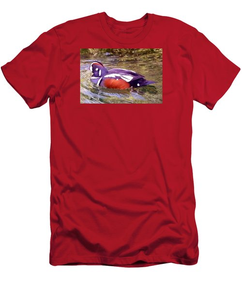 Patriot Duck Men's T-Shirt (Slim Fit) by Susan Garren