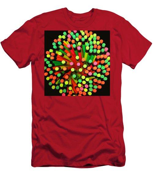 Pencil Blossom Men's T-Shirt (Athletic Fit)