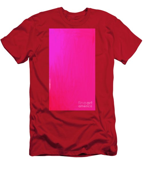 Pink Men's T-Shirt (Slim Fit) by Anita Lewis
