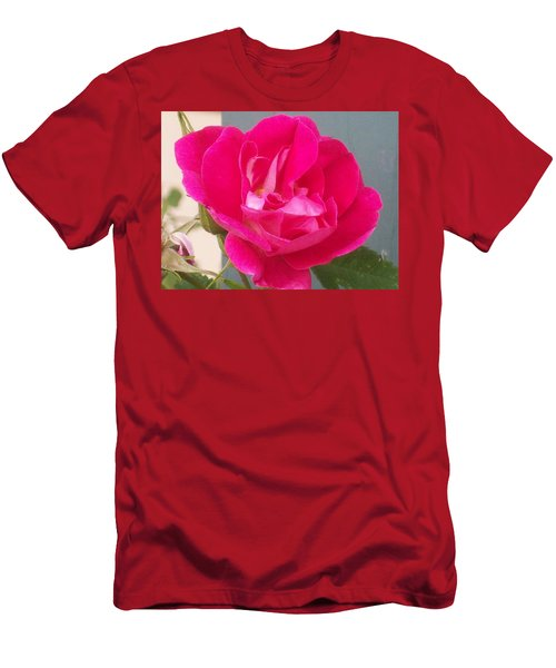 Men's T-Shirt (Slim Fit) featuring the photograph Pink Rose by Jewel Hengen