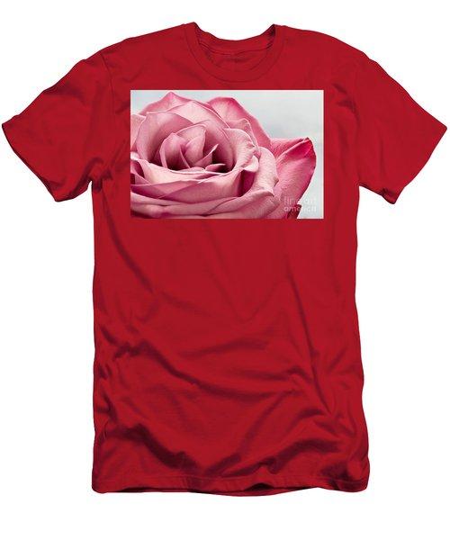 Pink Rose Macro Men's T-Shirt (Athletic Fit)