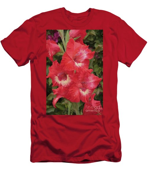 Pink Trumpet Painting In Digital Oil Men's T-Shirt (Athletic Fit)