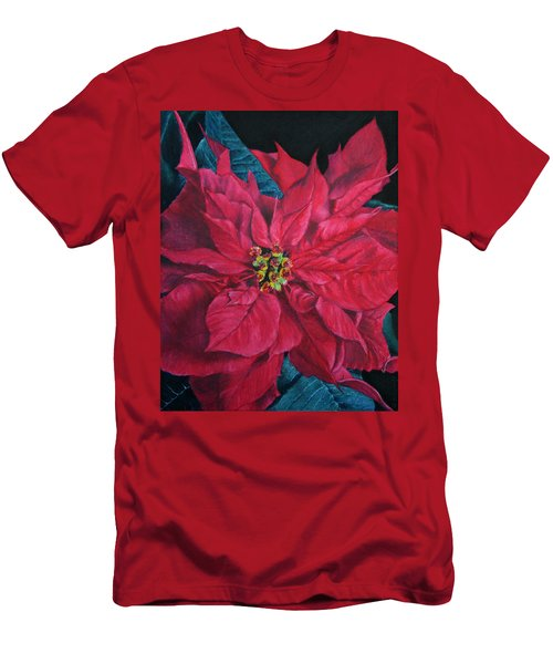 Poinsettia II Painting Men's T-Shirt (Athletic Fit)